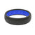 Thin Solid Midnight Black/Deep Blue - Groove Life Silicone Wedding Rings