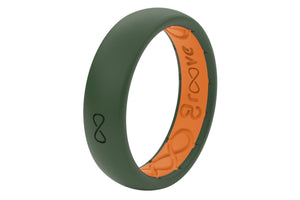 Thin Solid Moss Green - Groove Life Silicone Wedding Rings