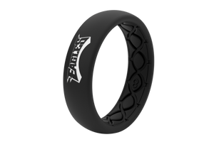 Thin NFL Philadelphia Eagles Black - Groove Life Silicone Wedding Rings