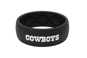Original NFL Dallas Cowboys Black - Groove Life Silicone Wedding Rings