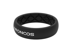 Thin NFL Denver Broncos Black - Groove Life Silicone Wedding Rings