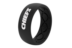Original NFL Kansas City Chiefs Black - Groove Life Silicone Wedding Rings