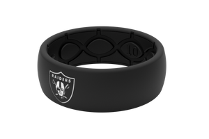 Original NFL Oakland Raiders With White Fill - Groove Life Silicone Wedding Rings