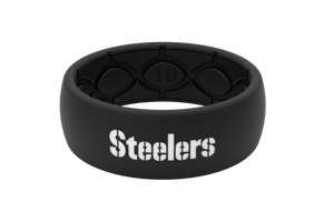 Original NFL Pittsburgh Steelers Black - Groove Life Silicone Wedding Rings