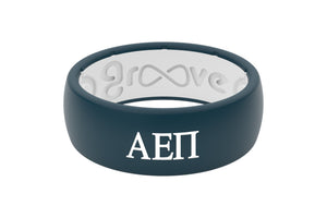 Original Custom Greek Alpha Epsilon Pi - Groove Life Silicone Wedding Rings