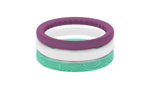 Seamaid - Stackable - Groove Life Silicone Wedding Rings