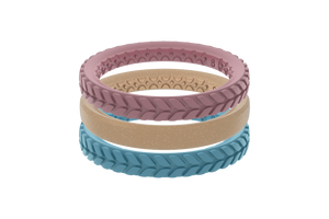 American Girl Stackable - Groove Life Silicone Wedding Rings