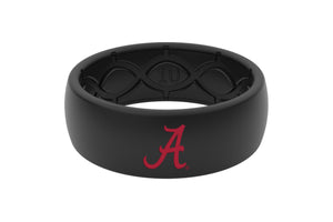 Original College Alabama Black Color Fill - Groove Life Silicone Wedding Rings