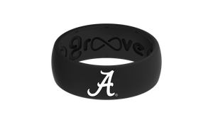 Original College Alabama Black Logo - Groove Life Silicone Wedding Rings