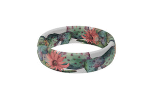 Thin Aspire Cactus Bloom - Groove Life Silicone Wedding Rings