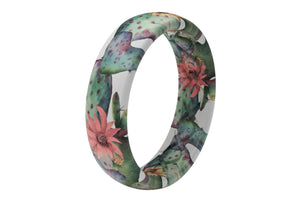 Cactus Bloom - Thin - Groove Life Silicone Wedding Rings