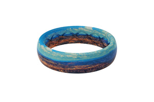 Thin Aspire Canyon Vista - Groove Life Silicone Wedding Rings