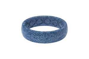 Faded Denim - Thin - Groove Life Silicone Wedding Rings