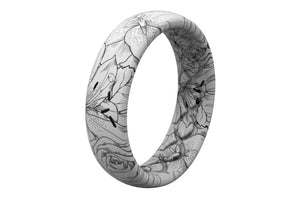 Winter Rose - Thin - Groove Life Silicone Wedding Rings