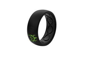 Bone Collector Custom Collection Black/Black Silicone Rings angle