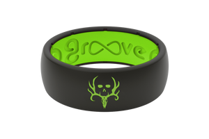 Original Bone Collector Midnight Black/Green - Groove Life Silicone Wedding Rings