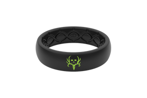 Bone Collector Custom Collection Black/Black Silicone Rings