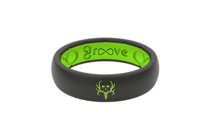 Bone Collector Custom Collection Black/Green Silicone Rings