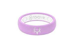 Thin Bone Collector Lavender - Groove Life Silicone Wedding Rings