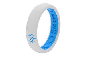 Thin Bone Collector White - Groove Life Silicone Wedding Rings