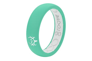 Thin Bone Collector Seafoam - Groove Life Silicone Wedding Rings