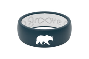 Original Custom Bear - Groove Life Silicone Wedding Rings