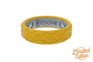 Thin Dimension Bella - Marigold - Groove Life Silicone Wedding Rings