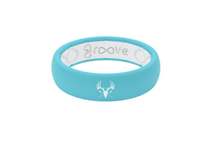 Thin Bone Maniacs Turquoise - Groove Life Silicone Wedding Rings