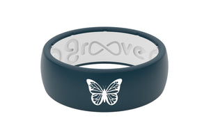 Original Custom Butterfly - Groove Life Silicone Wedding Rings