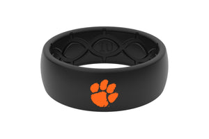 Original College Clemson Black Color Fill - Groove Life Silicone Wedding Rings