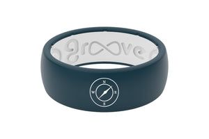 Original Custom Compass - Groove Life Silicone Wedding Rings