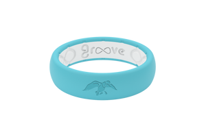 Thin Duck Commander Aqua - Groovelife Silicone Wedding Rings