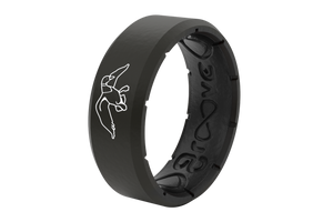 Duck Commander Pitch Black - Groove Life Wedding Rings