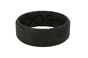 Edge Dimension Illusion Black - Groove Life Silicone Wedding Rings