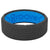 Edge Dimension Illusion Deep Stone - Groove Life Silicone Wedding Rings