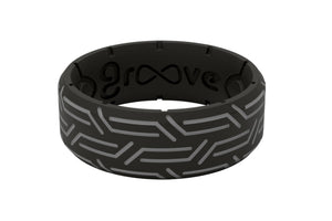 Edge Dimension Wired Black - Groove Life Silicone Wedding Rings