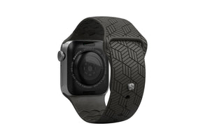 PREORDER | Watch Band Dimension Chevron Black | Ships in August - Groove Life Silicone Wedding Rings