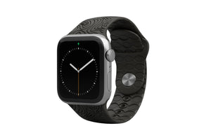 Apple Watch Band Dimension Topo Black - Groove Life Silicone Wedding Rings