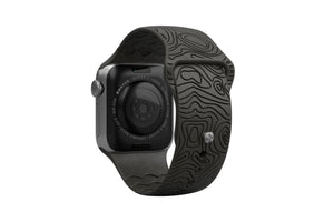 PREORDER | Watch Band Dimension Topo Black | Ships in August - Groove Life Silicone Wedding Rings