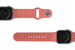 PREORDER | Watch Band Dimension Chevron Coral | Ships in August - Groove Life Silicone Wedding Rings