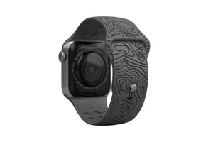 Apple Watch Band Dimension Topo Deep Stone Grey - Groove Life Silicone Wedding Rings