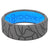 Edge Dimension Fracture Deep Stone Grey - Groove Life Silicone Wedding Rings