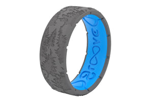 Edge Dimension Sierra Deep Stone Grey - Groove Life Silicone Wedding Rings