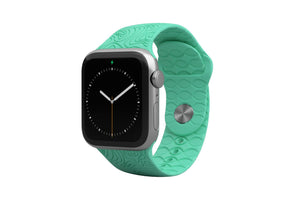 PREORDER | Watch Band Dimension Topo Seafoam | Ships in August - Groove Life Silicone Wedding Rings