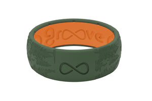 Original Dimension Sierra Moss Green - Groove Life Silicone Wedding Rings