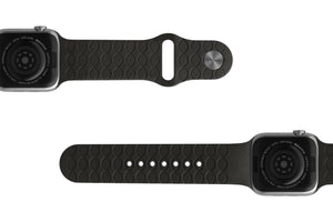 Watch Band Dimension Topo Black - Groove Life Silicone Wedding Rings