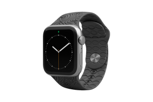 Apple Watch Band Dimension Topo Deep Stone Grey - Groove Life