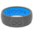 Original Dimension Chevron Deep Stone Grey - Groove Life Silicone Wedding Rings