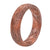 Thin Dimension Whirl Copper - Groove Life Silicone Wedding Rings