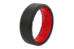 Edge America Black/Red - Groove Life Silicone Wedding Rings